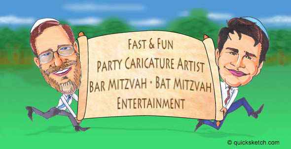 caricature artist for Bar Mitzvah Bat Mitzvah Caricature Artist  Entertainment caricaturist ny