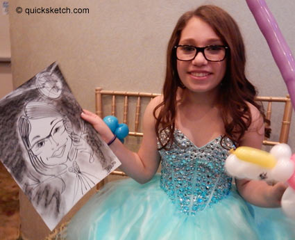 bat mitzvah caricature