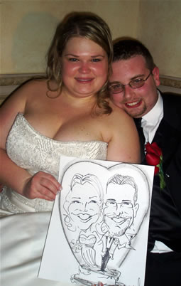 caricature artist for a wedding reception entertainment ideas for wedding guests unusual wedding entertainment ideas USA metro ny area wedding caricatures sketch artist entertainment bride & groom caricatures walk around wedding caricatures caricature artist for bridal shower engagement party entertainment