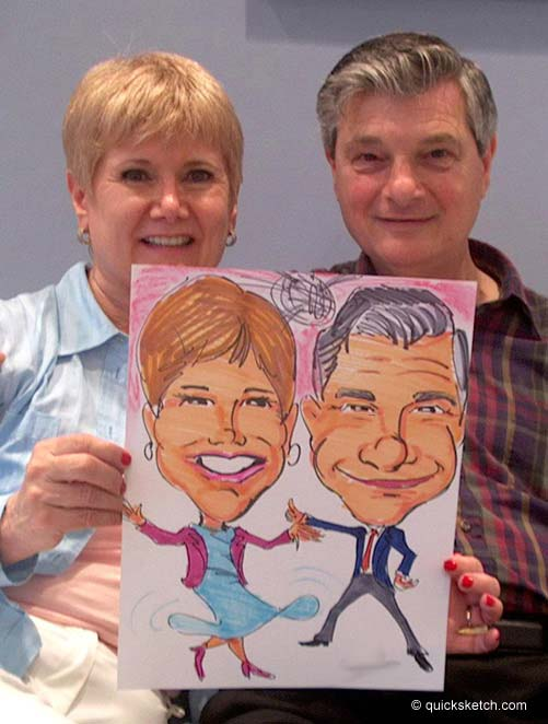 color caricatures for parties