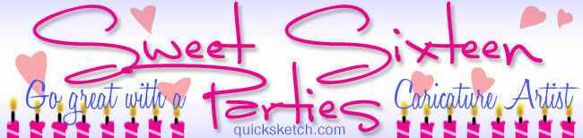 Caricature artist for Sweet 16 party caricaturist ny