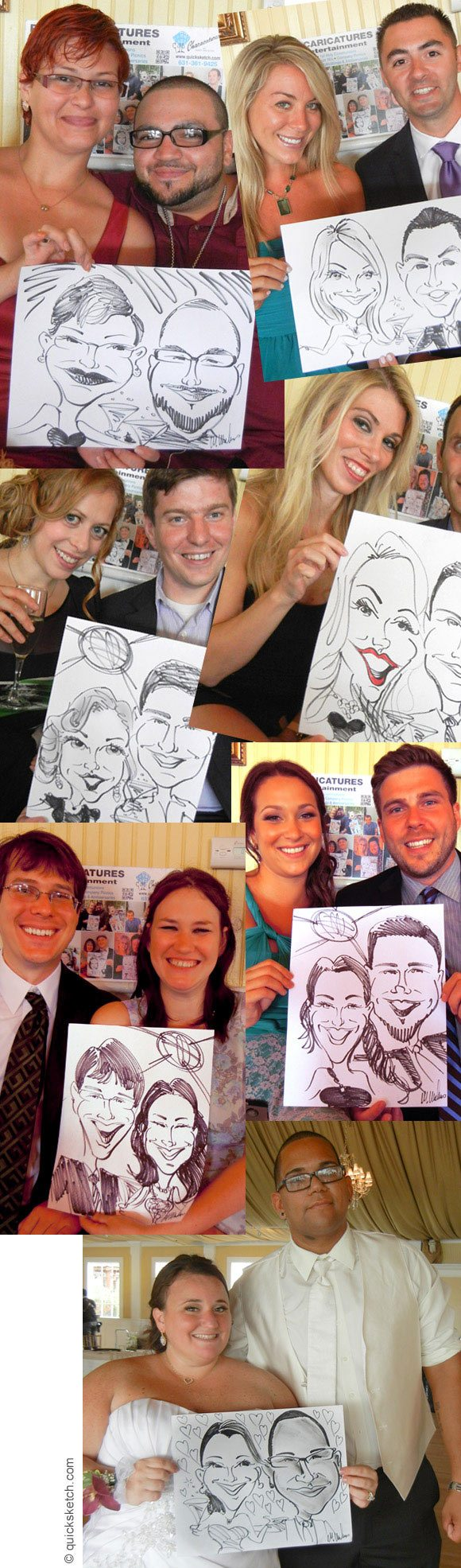 caricature artist for a wedding reception entertainment for wedding guests unusual wedding entertainment ideas USA metro ny area wedding caricatures sketch artist Bridgeview yacht club wedding caricatures caricature artist for bridal shower engagement party entertainment fun and entertaining giveaways for guests