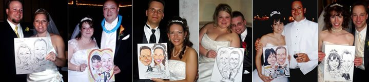 Caricature artist for weddings caricaturist ny