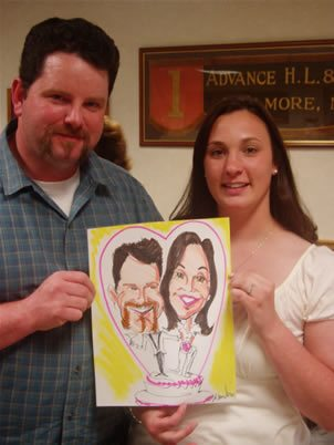 caricature artist for weddings engagement parties at vfw halls