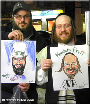 mountain fruit caricature of rabbi